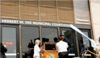 Unveiling the Gee Courthouse sign