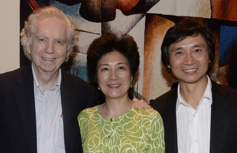 Lily and Charles Foster with Li Cunxin